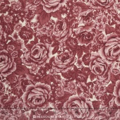 Belcourt - Tonal Roses Rose Pink Yardage
