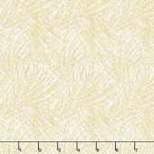 Festive Chickadee - Golden Pine Parchment Metallic Yardage