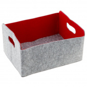 Felt Foldable Storage Bin - Red