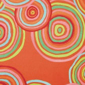 """The Kaffe Fassett Collective - Circles Red 108"""" Wide Backing"""