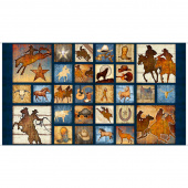 Mustang Sunset - Mustang Small Patch Navy Panel