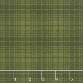Another Moose Is Loose - Wool Plaid Green Yardage