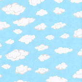 Comfy Flannel® - Clouds Blue Yardage