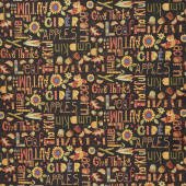Give Thanks II - Autumn Words Yardage