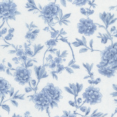 "Regency Ballycastle Chintz 18th Century - Maghera Off White English Blue 108"" Wide Backing"