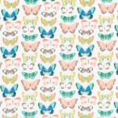 Midsummer Meadow - Flutter Cream Yardage