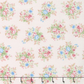 Morning in the Garden - Medium Floral Pink Yardage