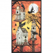 Raven Moon - Haunted House Pumpkin Digitally Printed Panel
