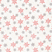 Timber Gnomies - Snowflake White Yardage