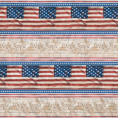 We the People - Declaration Stripe Multi Yardage