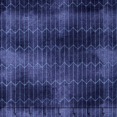 Dapper - Chalk Lines Blue Yardage