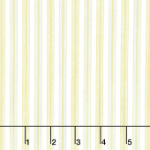 Stonehenge White Christmas - Stripe Gold Cream Metallic Yardage