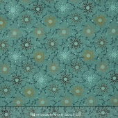 "Prairie Vine - Teal Flowers 108"" Wide Backing"