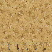 Itty Bitty - Stars Tan Yardage