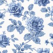 Regency Blues - Berwick Off White Blue Yardage
