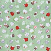 Hot Cocoa Bar - Tossed Cups Green Yardage