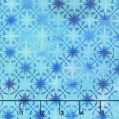 Calypso - Compass Turquoise Digitally Printed Yardage
