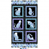 Cat-i-tude - Singing the Blues Black Pearlized Panel