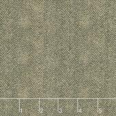 Woolies Flannel - Herringbone Black Brown Yardage
