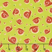 Zola - Snails Light Avocado Yardage