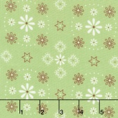 "Bee Backing and Borders - Bandana Green 108"" Wide Backing"