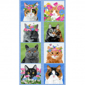 Meadow Meow - Cat Blue Panel