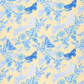 Maison Des Fleurs - Butterfly Belle Yellow Yardage