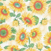 Solana - Sunflowers Cream Yardage
