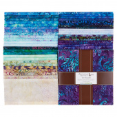 Artisan Batiks - Fancy Feathers 3 Ten Squares