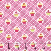 Cupcake Cafe - Cupcake Geo Pink Yardage