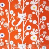Raining Cats and Dogs - Up A Tree Orange Yardage