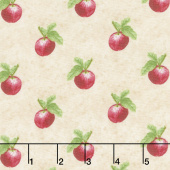 Apple Festival - Small Set Apples Taupe Yardage