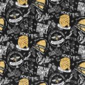 Bee's Life - Honey Bee Black Yardage