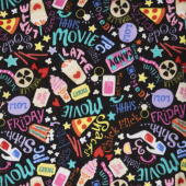 Winterfleece - Movie Night Black Yardage