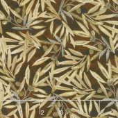 Tuscan Delight - Olive Branch Toss Brown Yardage