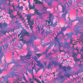 Butterfly Paradise - Silhouettes Purple Yardage