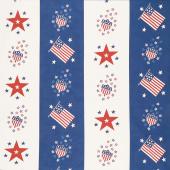 Harbor Springs - Flag & Star Bunting Navy Yardage