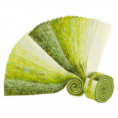 "Java Batiks Favorites Greens 2.5"" Strips"