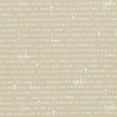 Make Yourself at Home - Home Phrases Taupe Yardage