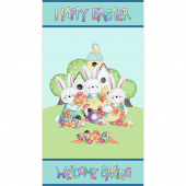 Easter Fun - Happy Easter Aqua Panel