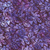 Artisan Batiks - Garden Style Flowers Grape Yardage