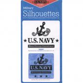 Navy Laser Silhouette Precut Fused Appliqué Pack