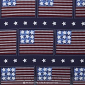 Patriotic Pride - Flag Navy Yardage