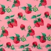 Fruta y Flor - Strawberry Patch Rose Yardage