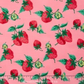 Fruta y Flor - Strawberry Patch Rose Yardage