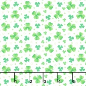 Pot of Gold - Tossed Clover Green Yardage