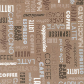 Dark Roast - Coffee Words Mocha Yardage