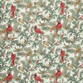 Winter Elegance - Cardinal Elegance Natural Yardage