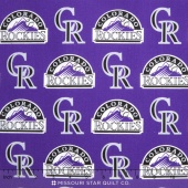 MLB Major League Baseball - Colorado Rockies Allover Yardage