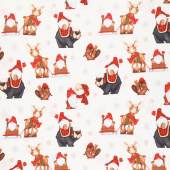 Flannel Gnomies - Gnomes Cream Yardage
